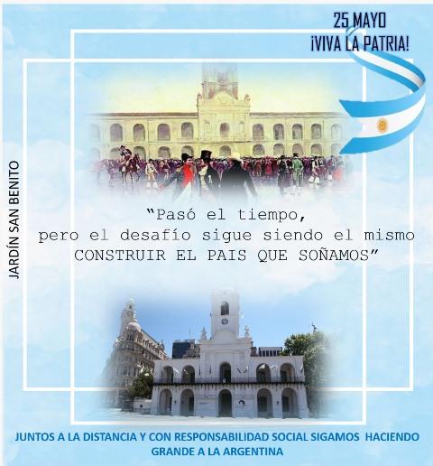 Colegio San Benito Celebra 25 De Mayo De Manera Virtual